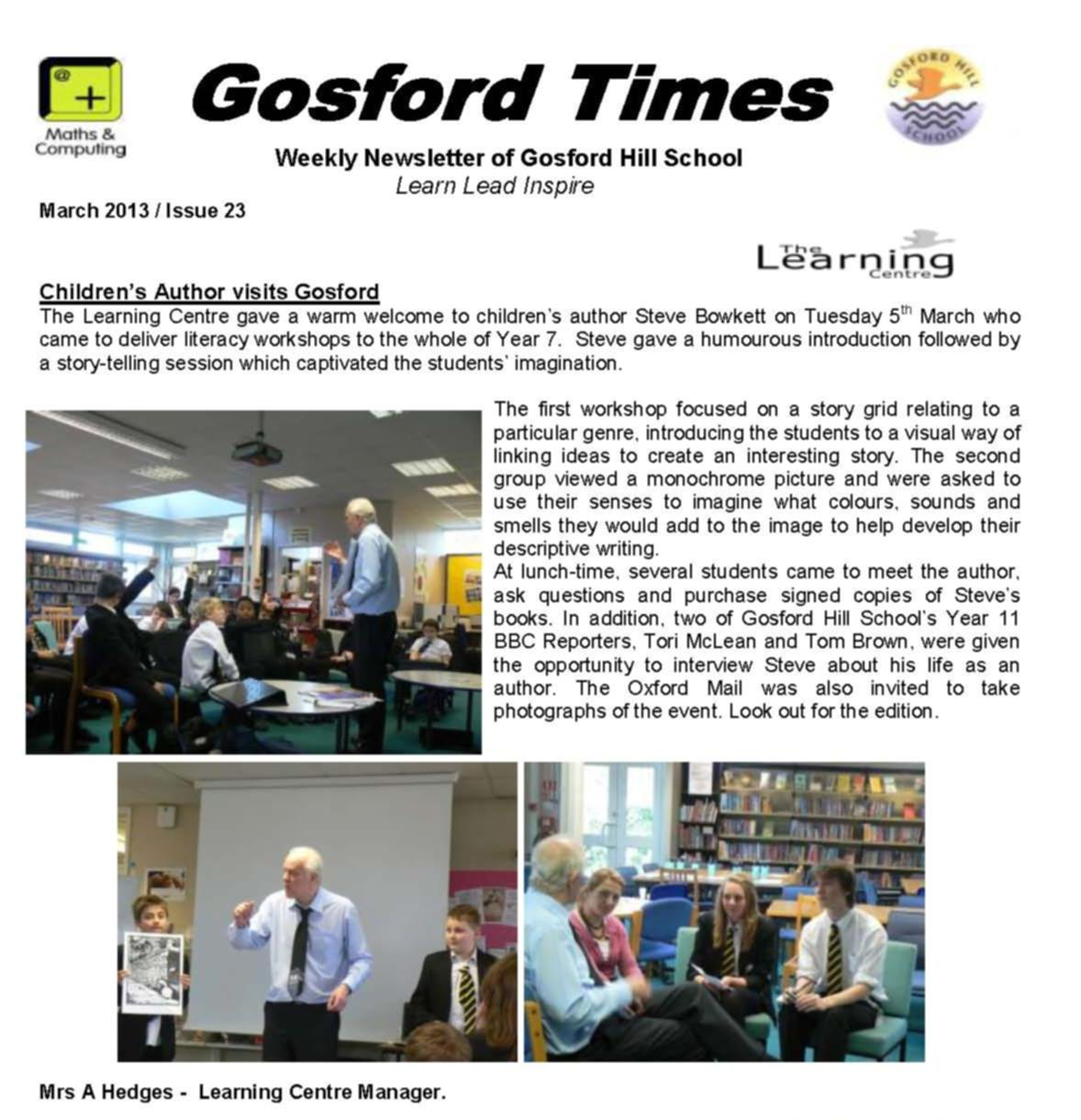 steve's visit to Gosford Hill school March 2013.jpg (172123 bytes)